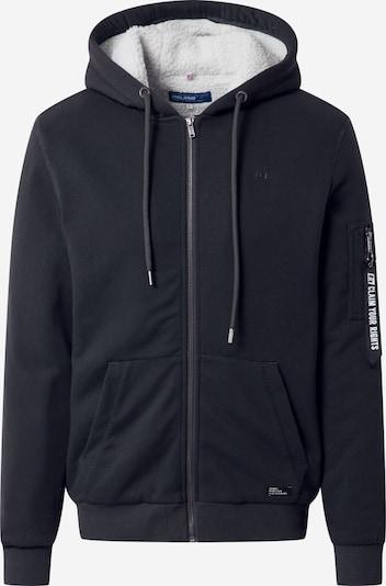 BLEND Bluza rozpinana w kolorze czarny / offwhitem, Podgląd produktu