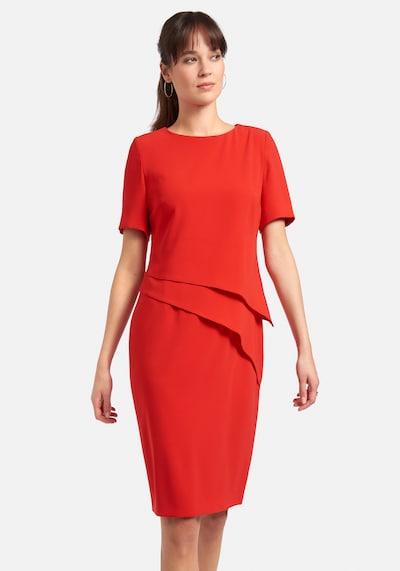 Fadenmeister Berlin Abendkleid Kleid mit 1/2-Arm in rot, Modelansicht