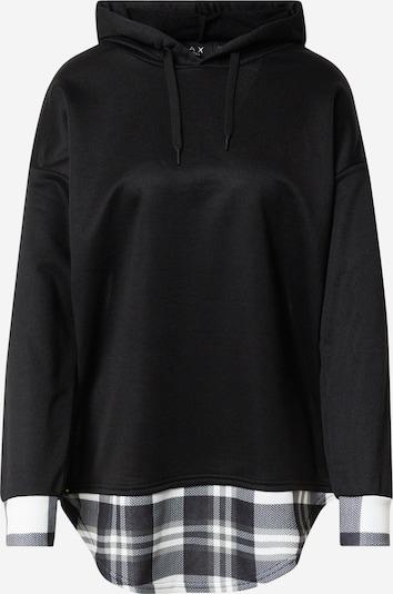 Bluză de molton 'RT130' AX Paris pe negru / alb, Vizualizare produs
