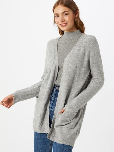 PIECES Knit cardigan in grau, View model