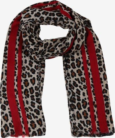 Fular Zwillingsherz pe maro / gri / roșu burgundy / negru, Vizualizare produs