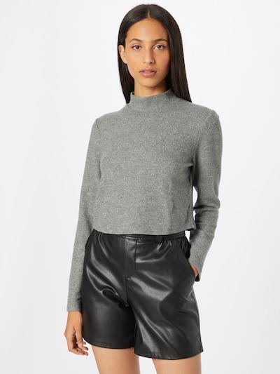 VILA Jersey en gris moteado, Vista del modelo