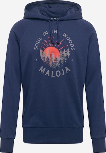 Maloja Bluzka sportowa 'Siebenschläfer' w kolorze ciemny niebieski / szary / jasnoczerwonym, Podgląd produktu