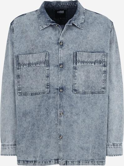 Urban Classics Plus Size Hemd in blue denim, Produktansicht