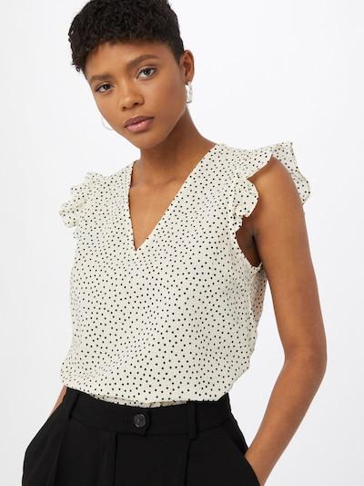 OBJECT Bluse 'NOUR' in creme / schwarz, Modelansicht