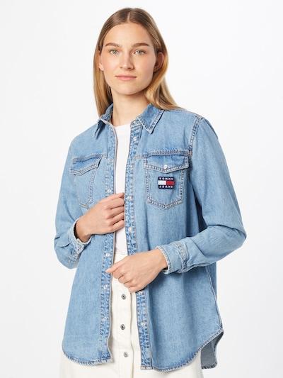 Tommy Jeans Bluse in blue denim, Modelansicht