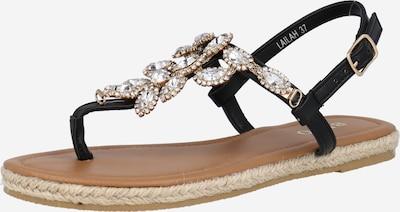 BEBO Sandale 'LAILAH' in gold / schwarz / transparent, Produktansicht