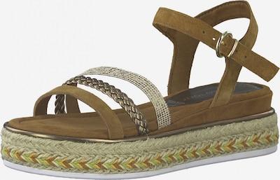 Sandale cu baretă MARCO TOZZI pe maro / cupru / auriu, Vizualizare produs