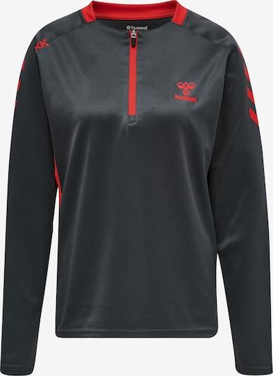 Hummel Sportsweatshirt in hellrot / schwarz, Produktansicht