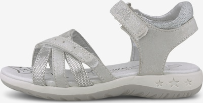 TOM TAILOR Sandale in silber / weiß, Produktansicht