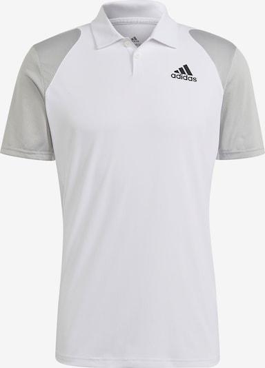 ADIDAS PERFORMANCE Poloshirt in grau / weiß, Produktansicht