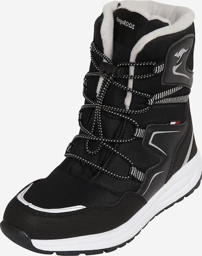 KangaROOS Snowboots 'K-Lucky' in de kleur Zwart / Zilver, Productweergave