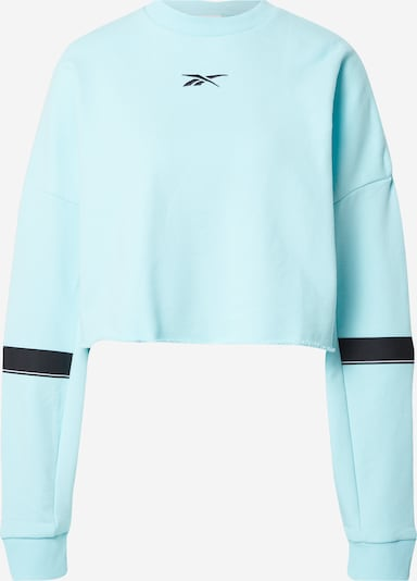 REEBOK Sport sweatshirt i azur / svart, Produktvy