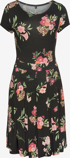 VIVANCE Kleid in mint / orange / rosa / rosé / schwarz, Produktansicht