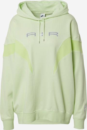 Bluză de molton Nike Sportswear pe albastru închis / verde limetă / verde deschis / alb, Vizualizare produs