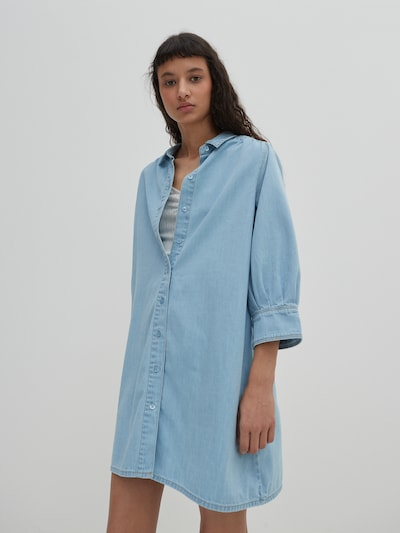 EDITED Kleid 'Siena' in blue denim, Modelansicht