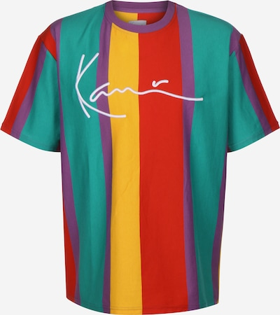 Karl Kani T-Shirt in limone / jade / dunkellila / hellrot / weiß, Produktansicht