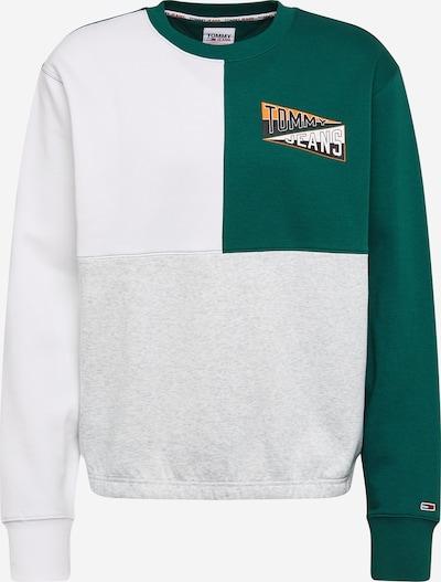 Tommy Jeans Sweatshirt in grau / dunkelgrün / orange / weiß, Produktansicht