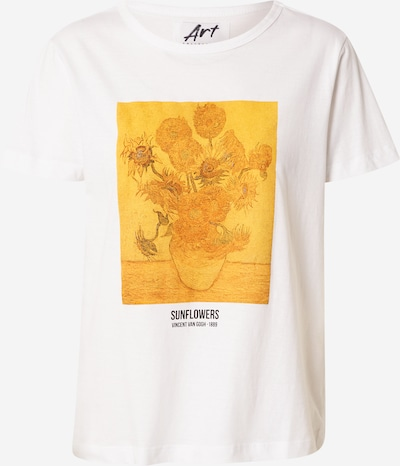 OVS T-shirt en safran / blanc, Vue avec produit