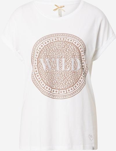 Key Largo Shirt 'CIRCLE' en hellbraun / weiß, Vue avec produit