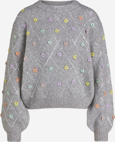 OUI Pullover in grau / orange / weiß, Produktansicht