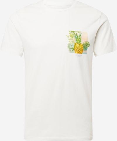 JACK & JONES T-Shirt 'STANLEY' in aqua / gelb / grün / weiß, Produktansicht
