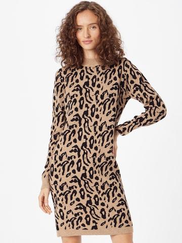 Robes en maille 'Thess' OBJECT en marron