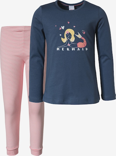 s.Oliver Nachtkledij in de kleur Navy / Geel / Pitaja roze / Wit, Productweergave