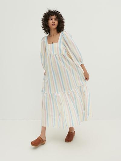 EDITED Kleid 'Chaya' in hellblau / hellgelb / rosa / naturweiß, Modelansicht