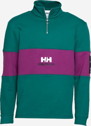 HELLY HANSEN Sweatshirt in grün / lila / schwarz / weiß, Produktansicht
