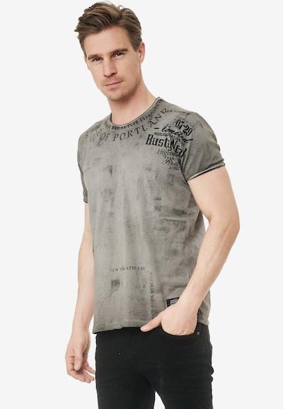 Rusty Neal T-Shirt mit lässigem Print in grau: Frontalansicht