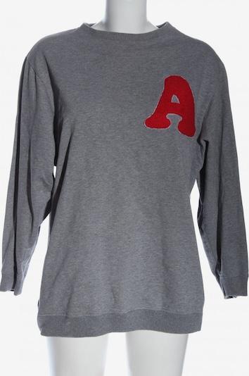 find. Sweatshirt in S in hellgrau / rot, Produktansicht