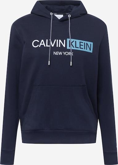 Calvin Klein Mikina - námornícka modrá / svetlomodrá / biela, Produkt