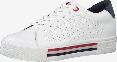 s.Oliver Baskets basses en bleu marine / rouge / blanc, Vue avec produit
