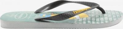 HAVAIANAS Badeslipper in 41 in pastellgelb / schwarz, Produktansicht