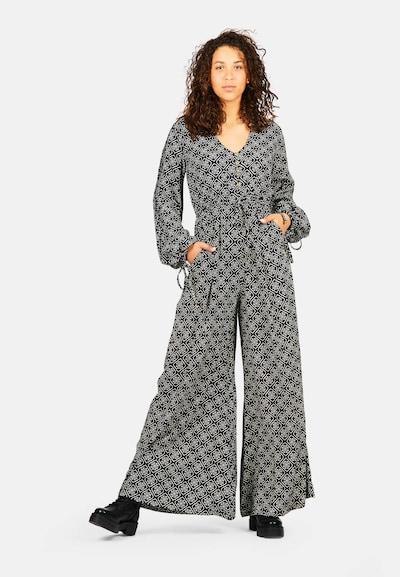 Isla Ibiza Bonita Jumpsuit 'AMOR' in Grey / Black, View model