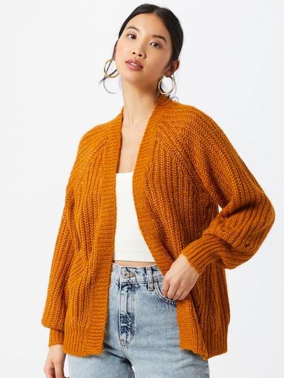 VILA Strickjacke in orange, Modelansicht