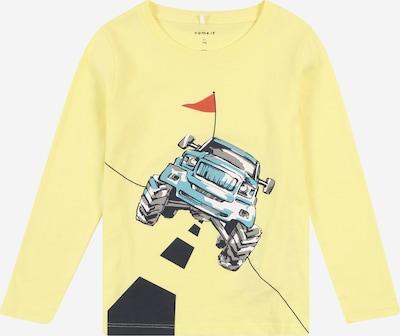NAME IT Koszulka 'DIRGO' w kolorze podpalany niebieski / limonkowy / srebrno-szary / ognisto-czerwony / czarnym, Podgląd produktu