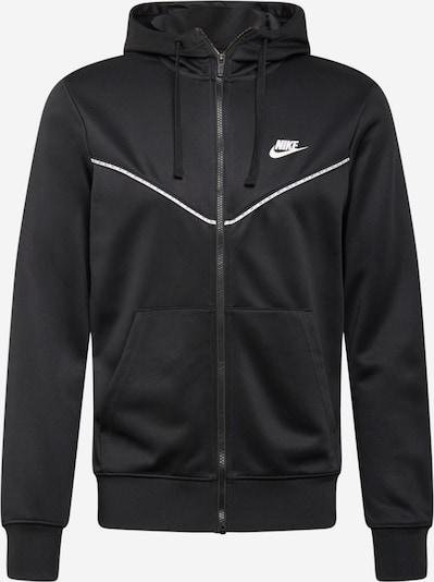 Nike Sportswear Sudadera con cremallera 'Repeat' en negro / blanco, Vista del producto