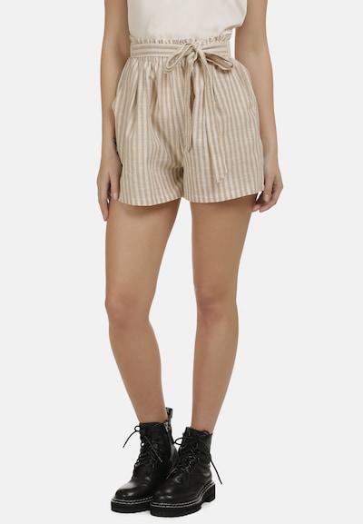 DreiMaster Vintage Shorts in beige / weiß, Modelansicht