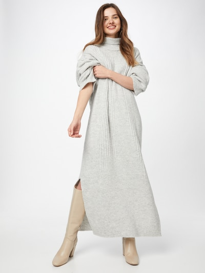 Rochie tricotat 'ENYA' Karo Kauer pe gri deschis, Vizualizare model