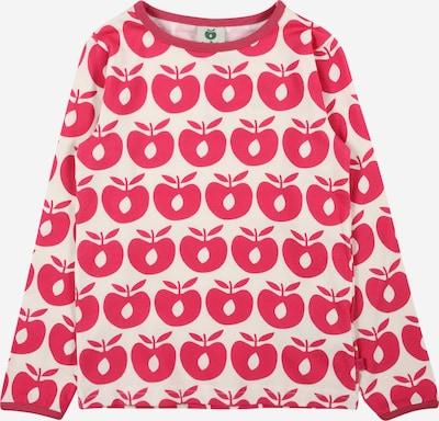 Småfolk T-Shirt en rouge carmin / blanc, Vue avec produit