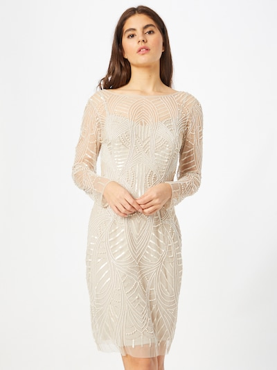 Adrianna Papell Cocktail Dress in Beige, View model