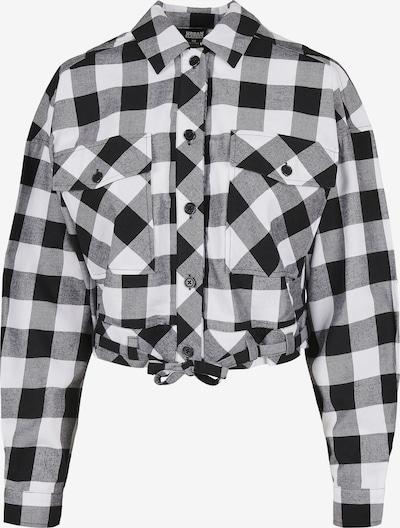 Urban Classics Bluse in schwarz / weiß, Produktansicht
