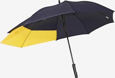 Doppler Regenschirm 'Fiber' in navy / gelb, Produktansicht