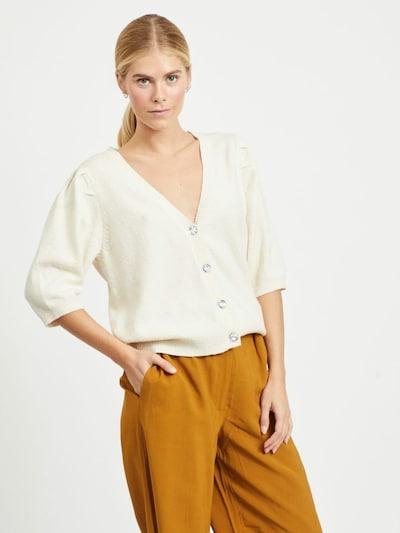 VILA Strickjacke 'Sparkle' in beige, Modelansicht