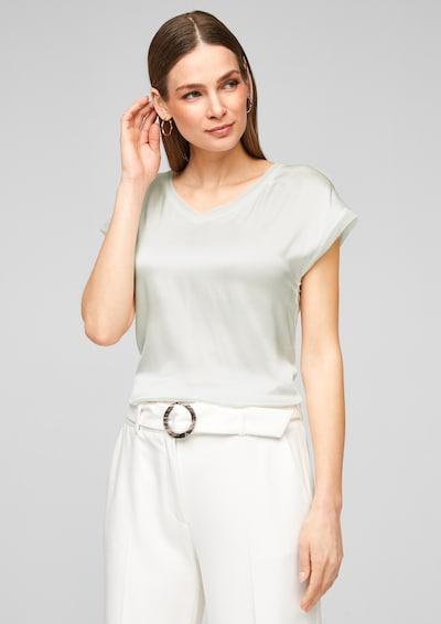 s.Oliver BLACK LABEL Shirt in de kleur Wit: Vooraanzicht