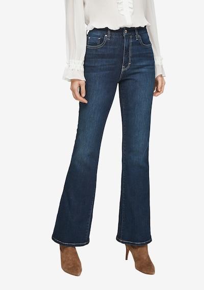 s.Oliver BLACK LABEL Jeans in de kleur Donkerblauw, Modelweergave