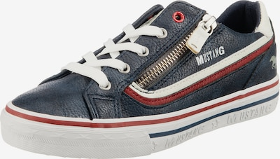 MUSTANG Sneaker in navy / feuerrot / weiß, Produktansicht