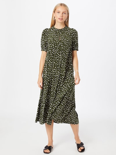 Whistles Kleid 'WILD' in khaki / weiß, Modelansicht
